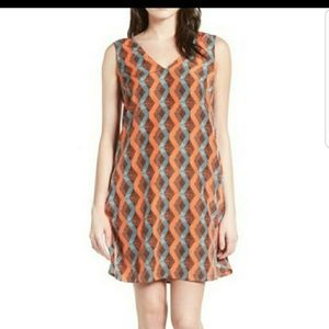 Halogen Geometric Print Shift Dress